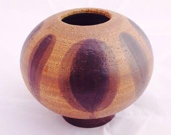 Sgrafo ball vase, Vintage Sgrafo vase, Peter Muller, 60s 70s pottery, mid century vase, Art pottery, Vintage studio vase, Sgrafo vase