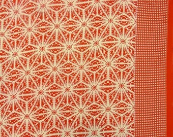 """Orange Designer Fabric, Tie Dyed Print, Home Decor, Dress Material, Sewing Craft, 47"""" Inch Rayon Fabric By The Yard ZBD234D"""