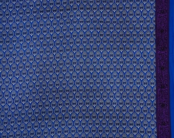 """Antique Fabric, Floral Damask Print, Blue Fabric, Sewing Accessories, 42"""" Inch Cotton Fabric By The Yard ZBC3234B"""