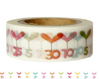 Washi Tape BIRTHDAY NUMBERS