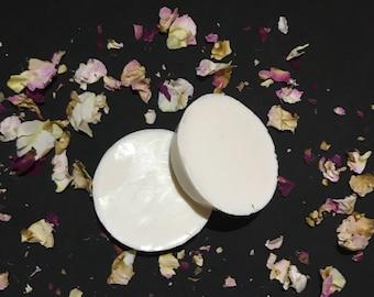 Rose and geranium oatmeal soap