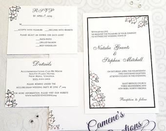 Apple Blossom Wedding Invitation Set