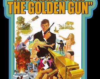 70's James Bond 007 Classic The Man With The Golden Gun Poster Art custom tee Any Size Any Color