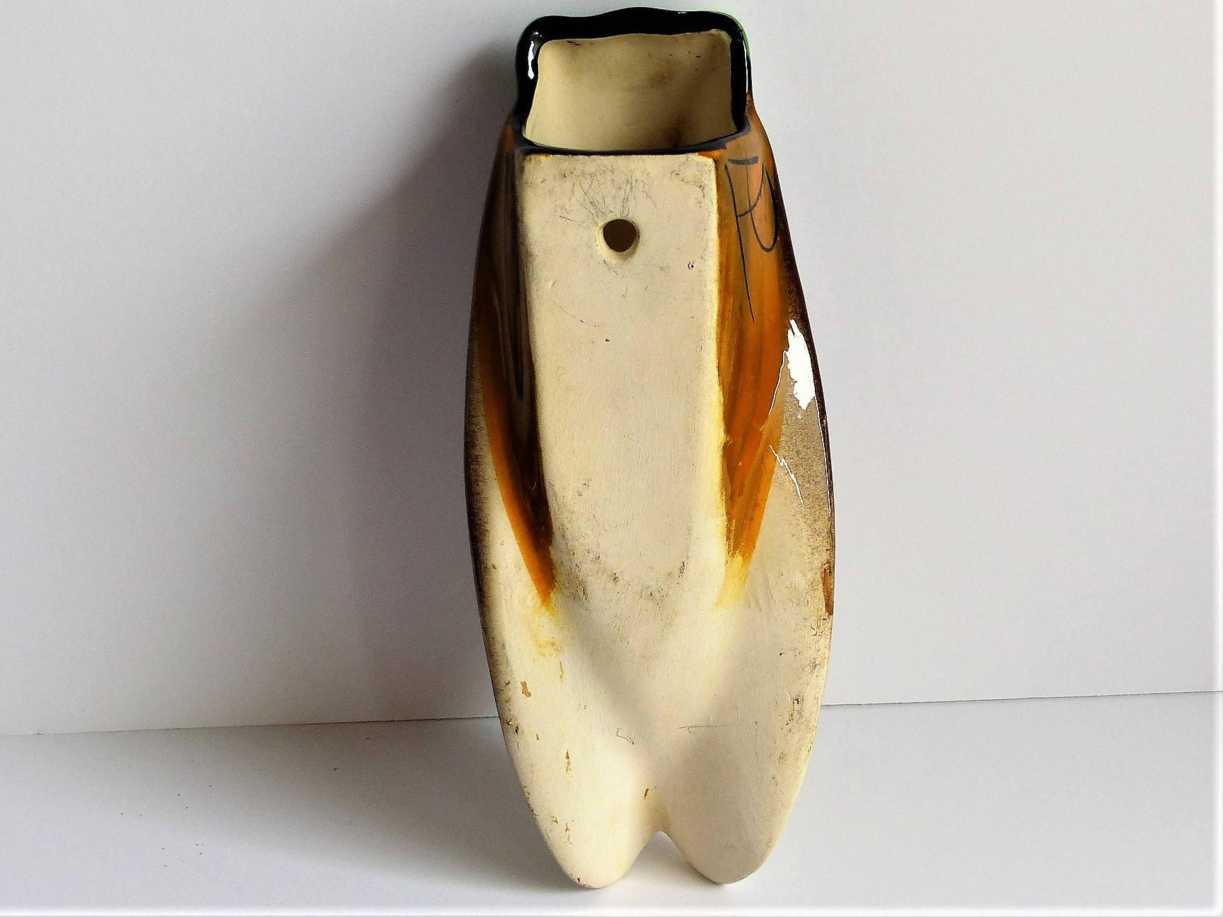 Medium Vintage Cicada Wall Vase, Brown Cicada Decorative Vase, Wall ...