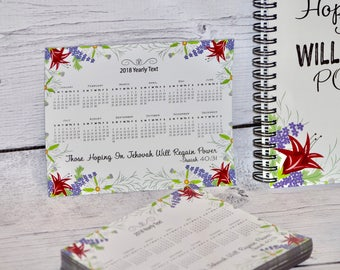 Year Text 2018 Magnet Calendar - JW Pioneer School gifts - JW pioneer school - JW Pioneer gifts - Jw Gifts