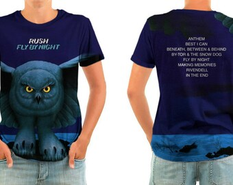 RUSH fly by night shirt all sizes
