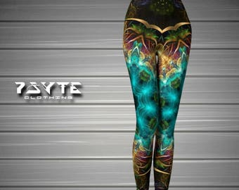 Yoga leggings, Mandala leggings, Festival Leggings, psychedelic clothing, psy clothing, doof Clothing, Yoga Pants, Psytrance leggings,