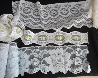 Vintage Lace Trim - Lot of Three pieces - Six Plus Yards Total