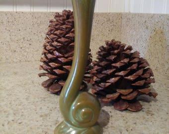Frankoma Snail Bud Vase #31 , Ada Clay, Prairie Green, Vintage Pottery, Pottery, Antique Pottery, Vase, Bud Vase