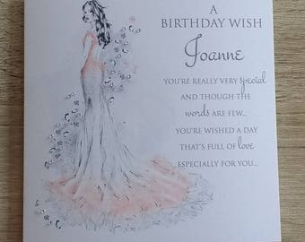 A Birthday Wish Card Mum/Sister/Friend etc