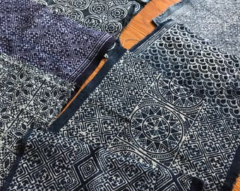 Indigo Hmong Batik Scrap - 1 Lot