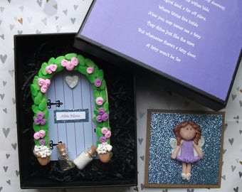 Fairy door gift set,personalised fairy door, wooden fairy door