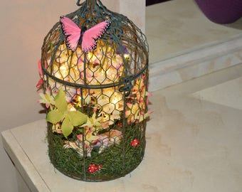 Sleeping Fairy in Cage with lights
