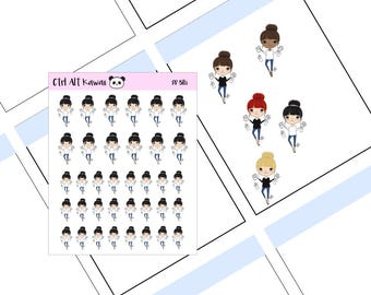 Kawaii Girls Planner Stickers - Bills