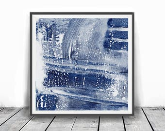 Digital Print , contemporary art, rustic home decor, wall art abstract, navy blue and white abstract, Modern, Interior Decor,  brush stroke