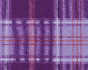 Purple Plaid Flannel, Quilting Fabric, Clothing/Apparel Fabric, Sewing Material, Home Decor/Craft Supplies, Yard/Half Yard/Fat Quarters