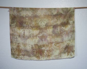 100% Silk Naturally Hand Dyed Scarf