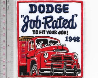 Vintage Truck Dodge Chrylet Truck Job Fit Concept 1948 Promo Patch