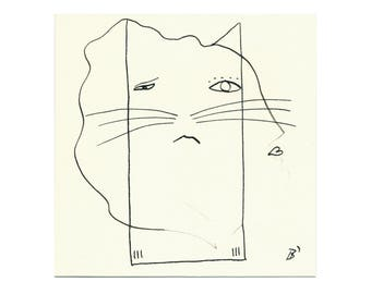 Sad cat 15/15 cm (5.9/5.9 inch)