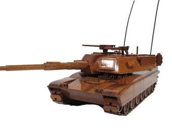 M1 M1A MIA1 MIA2 Abrams Army USMC Marine Tank Armor Military Mahogany Wood Wooden Model Gift