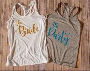 Bridal party tank tops / bachelorette tank tops