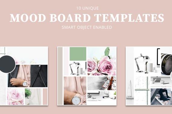 fashion mood board template - mood board templates inspiration board style guide