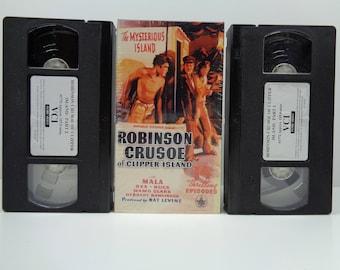 Robinson Crusoe of Clipper Island (VHS, 1990, 2-Tape Set)