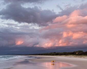 Surfer & the sky portrait photography fine art print