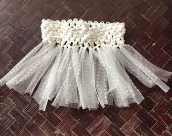 White glitter dog tutu, small tutu, dog costume, dog clothes, dog tutu, crochet tutu, girl dog, pretty dog, dog dress up, dog wedding