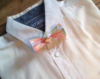 printed pinapple origami bowtie