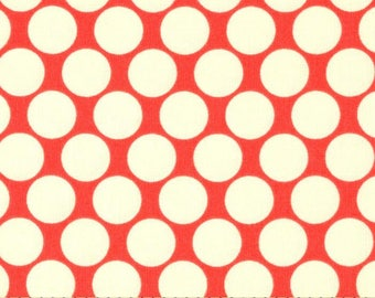 Amy Butler Lotus Dots in Red - 1 yard