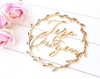 Wedding sign - laser cut wreath sign // mr and mrs sign // bride and groom // Photobooth sign // Bridal shower sign // wedding decor