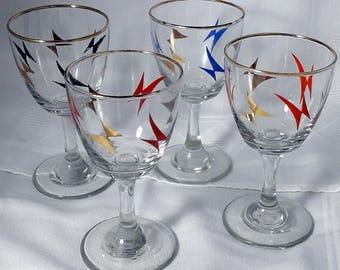 Vintage wine glasses - part set of 4