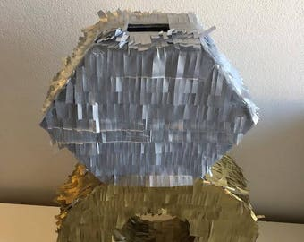 SALE!! Reduced to clear!! Diamond Ring Wedding Piñata - Handcrafted