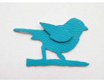 Leather bird motif