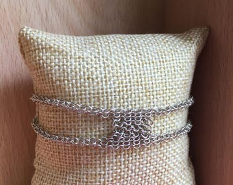 Chainmail bracelet / 925 sterling silver