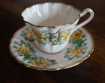 "Royal Stafford ""Emerald Isle"" Teacup & Saucer"