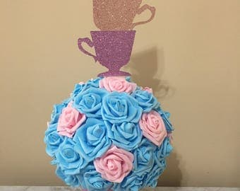 Alice in Wonderland Centerpiece, Tea Party Centerpiece, ONEderland Centerpiece