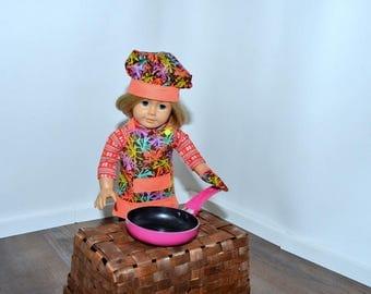 18 inch doll chef set (3pc)