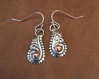 Sterling Silver Charming western earrings