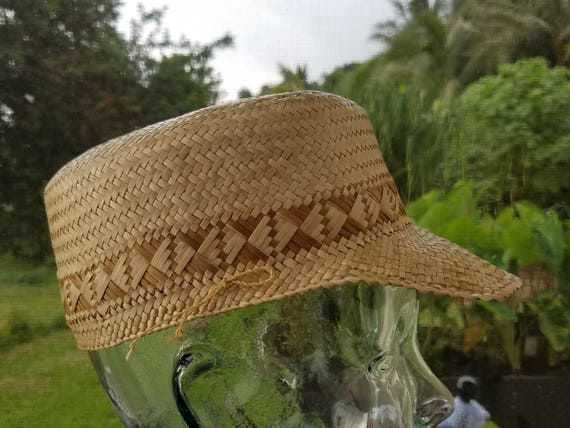 Two-tone Lauhala Cadet Style Cap