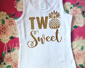 TWO Sweet - Twotti Fruity - Twoty Fruity Birthday - Second Birthday Shirt