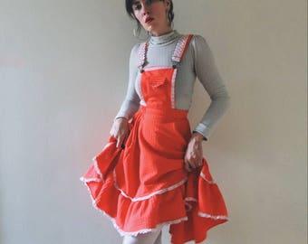 Vintage Rockmount Ranchwear Overall Full Circle Dress XS