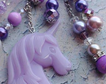 Purple Unicorn Planner/Key Charm