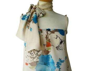 CLEARANCE top strap with matching scarf Romy flowers