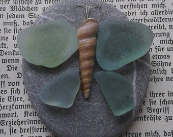 Stone with butterfly