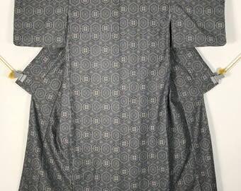 KM386 Vintage Japanese Kimono Womens Cotton
