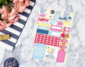 Magic One Page Mini Kit Planner Stickers. Perfect for Erin Condren Life Planners! MAGIC MINI KIT
