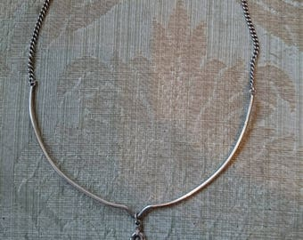 Vintage Hallmarked Edinburgh Silver  Pendant Necklace 1977