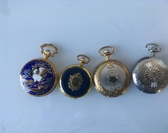 Collection Of 4 Hunter Pocket Watches